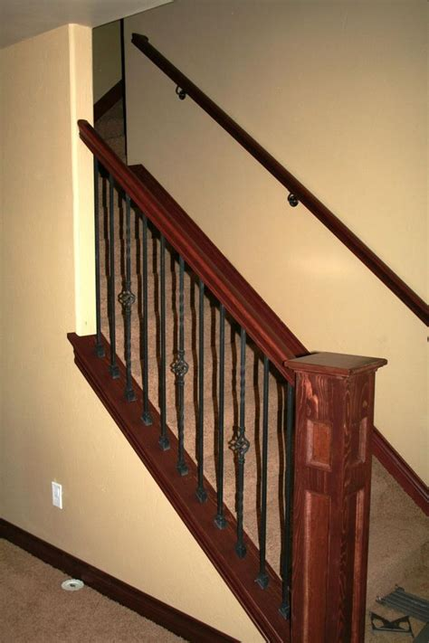 basement stair railing ideas 17 best images about stairs and railing on