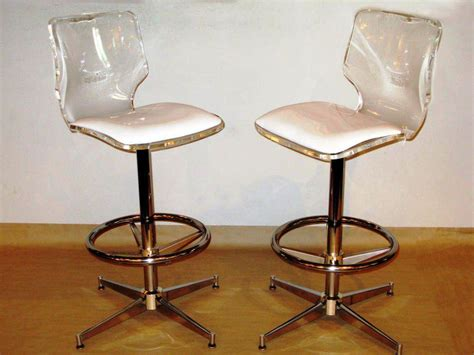 Antique Gold Bar Stools by Look Spectacular Lucite Bar Stools