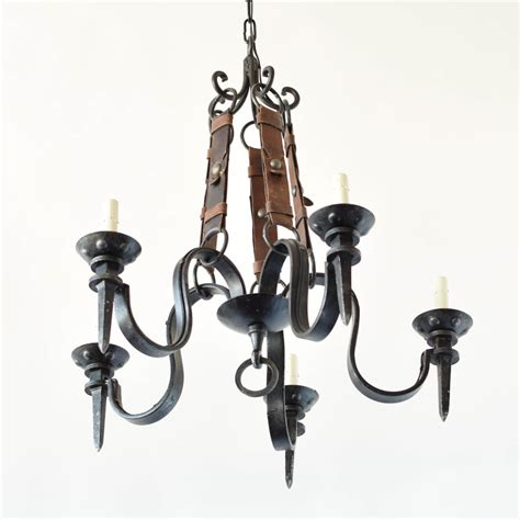 leather chandelier iron leather chandelier the big chandelier