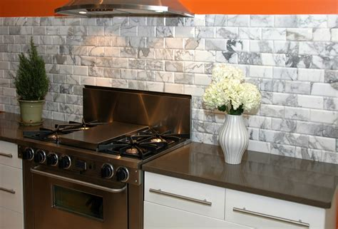 Kitchen Backsplash Subway Tile Patterns Appealing Stones Subway Tile White Kitchen Backsplash With Chrome Stove And Range As Well