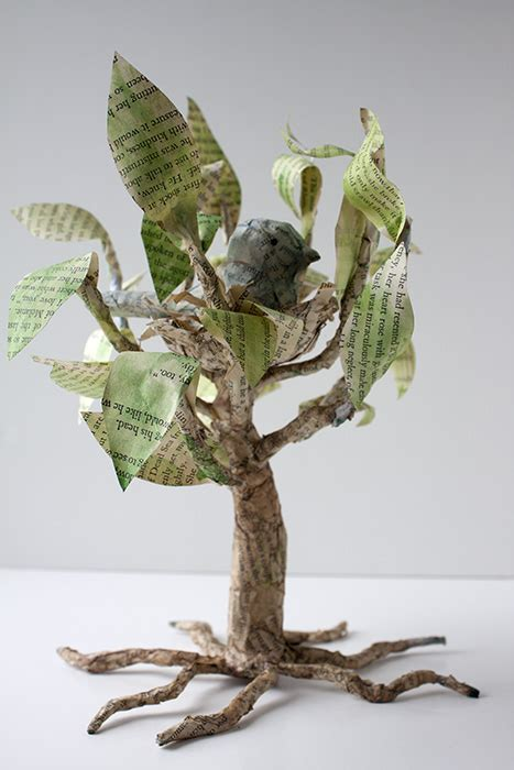 Tree Used For Paper - crafty challenge 7 paper mache tree with nesting bird