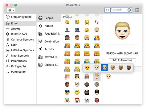 emoji mac how to access use different emoji skin tones on mac