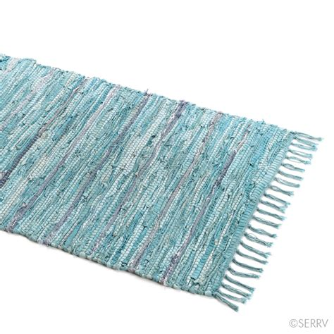 Suede Rug by Home Textiles Turquoise Suede Rag Rug Small