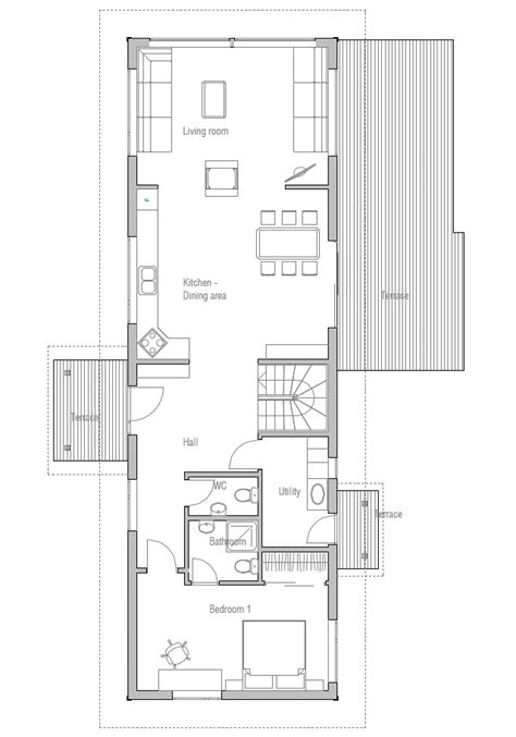 Small House Plans Vaulted Ceilings Small House Plan Ch14 With Vaulted Ceiling And Three Bedrooms