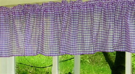 purple gingham curtains purple gingham kitchen caf 233 curtain unlined or with white