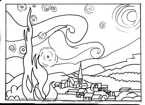 coloring pages for gogh free coloring pages of arles
