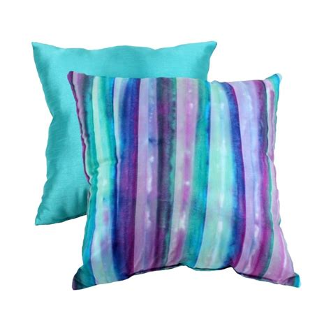 purple and green home decor pillow perfect decorative watercolor striped square toss