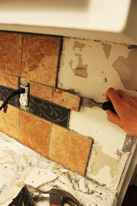 Removing Kitchen Tile Backsplash by How To Remove A Kitchen Tile Backsplash
