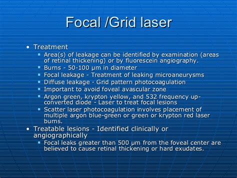 grid pattern laser photocoagulation diabetic macular edema 2011 1