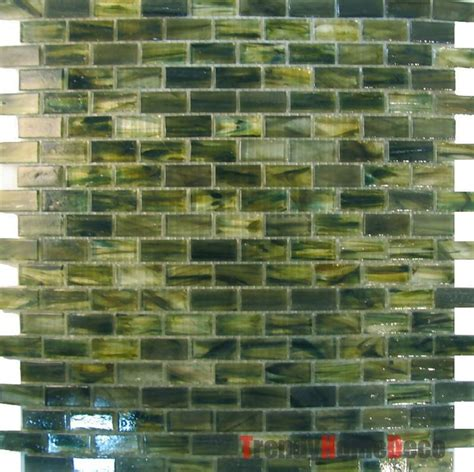 sample green recycle glass mosaic tile backsplash