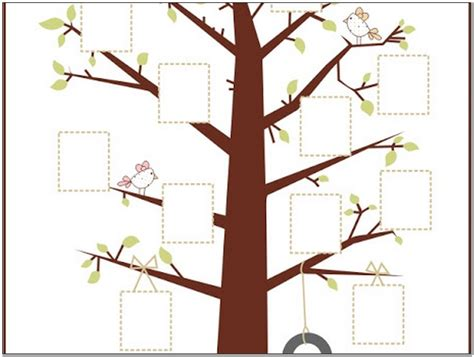 fillable family tree template free pictures reference