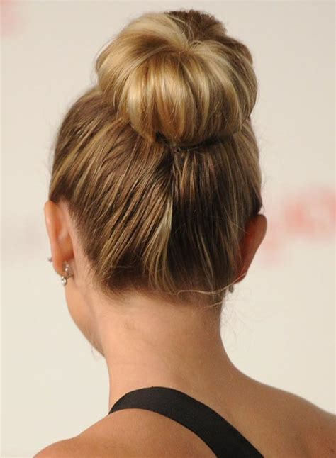 cute hairstyles in a bun 35 super cute and easy hairstyles for long haired ladies