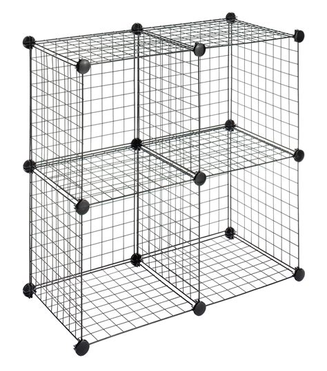 amazon com whitmor storage cubes s 4 black wire