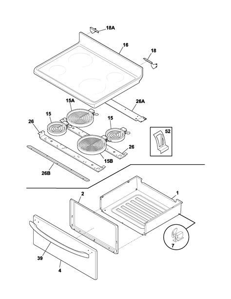 frigidaire oven parts diagram frigidaire fef366ccb electric range timer stove clocks