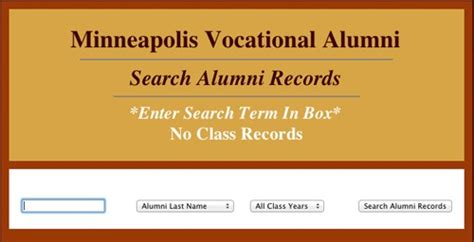 Records Name Search Update Alumni Record Minneapolis Vocational Alumni Edward G Palmer