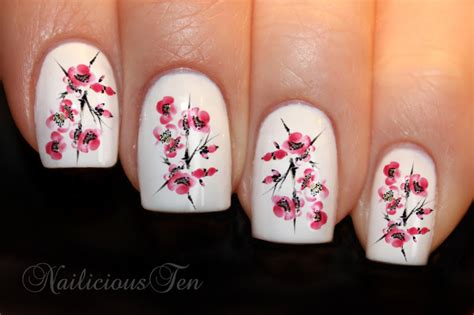 Japanese Style Water Decal M378 cherry blossom nail water transfer japan decal 21pcs