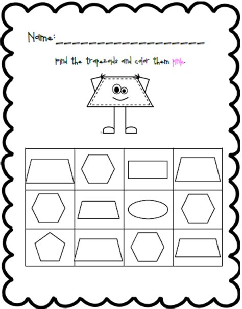 printable shapes trapezoid mrs black s bees august 2013