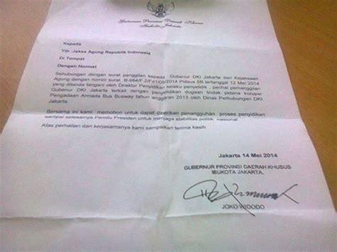 beredar surat jokowi untuk tunda panggilan penyidikan korupsi