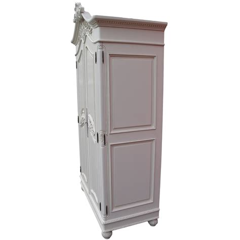 white french armoire wardrobe french white hand carved double armoire wardrobe la