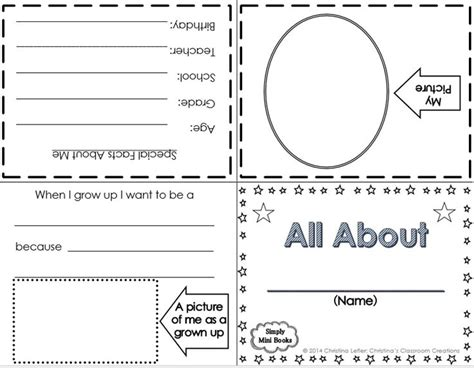 about me booklet template 17 best images about s classsroom creations tpt