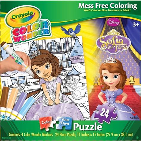 crayola giant coloring pages sofia the first crayola color wonder puzzle sofia the first children s