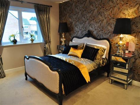 black  gold bedroom ideas black brown gold orange yellow chrome metallic bedroom master