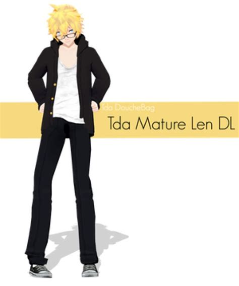 mmd tda male model tda mature len download by rintheskeletwin on deviantart