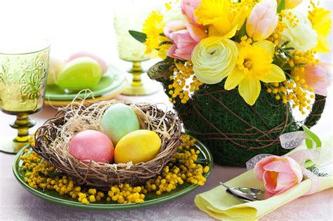 Table Decorations Centerpieces 5 easy affordable diy easter table centerpieces