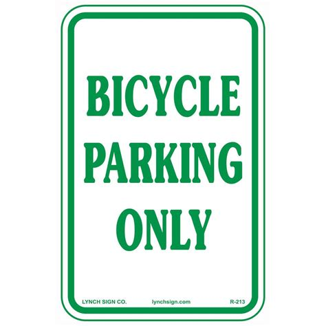 rectangular plastic no parking sign pse 0060 the home depot