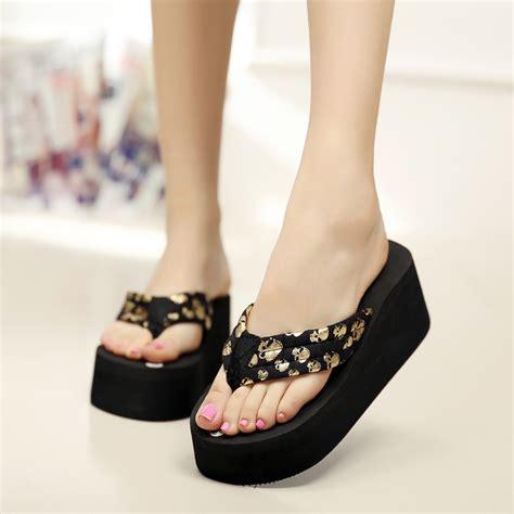Sandal Wanita Fn03 T Platform Heels Black fashion shoes wedges www pixshark images galleries