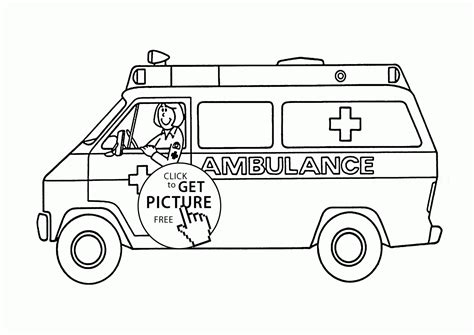 coloring page of an ambulance ambulance pages for preschool coloring pages