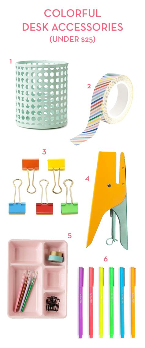 colorful desk accessories colorful desk accessories under 25 the crafted life