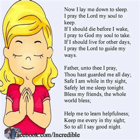 how to say go to bed in spanish a good night prayer once a child pinterest
