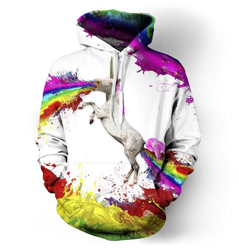 Hoodie 3d Fullprint Rainbow Import drop shipping rainbow unicorn hoodie sweatshirts printed animal 3d hoodies pullovers