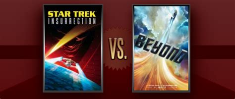 insurrection daily matchup of the day star trek insurrection vs star trek
