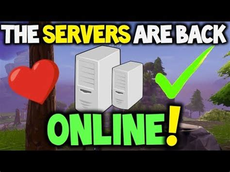 fortnite xbox servers fortnite servers are back xbox ps4 and pc