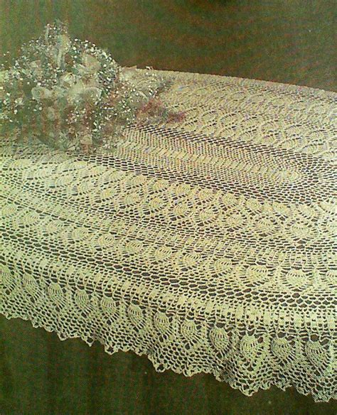 pattern tablecloths vintage crocheted oval pineapple tablecloth by mamaspatterns
