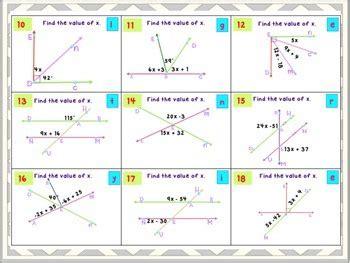 angle relationships  grade bundle  math maker tpt