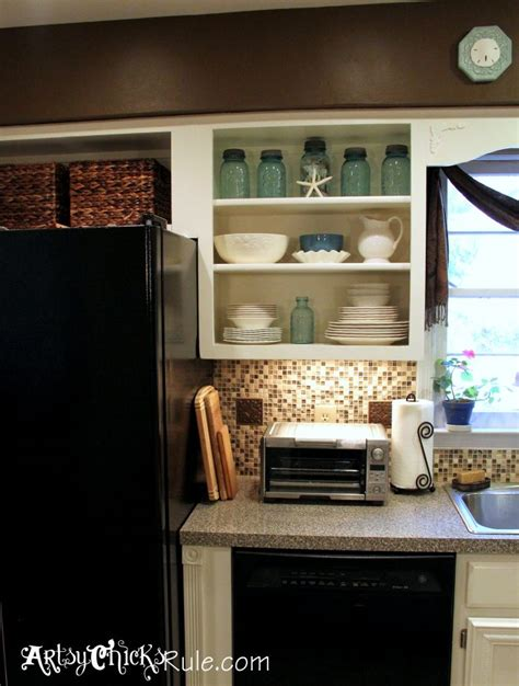 annie sloan kitchen cabinet makeover as you can see below i also removed the doors on the