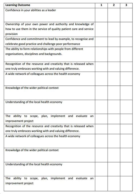 leadership development plan template 8 free word pdf