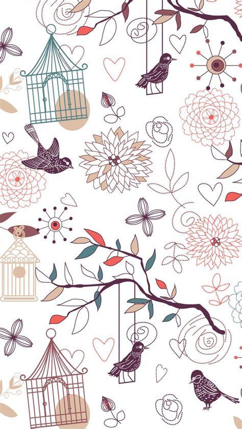 girly bird wallpaper iphone iphone5 壁紙 スマホ wallpaper 無料壁紙 かわいい鳥