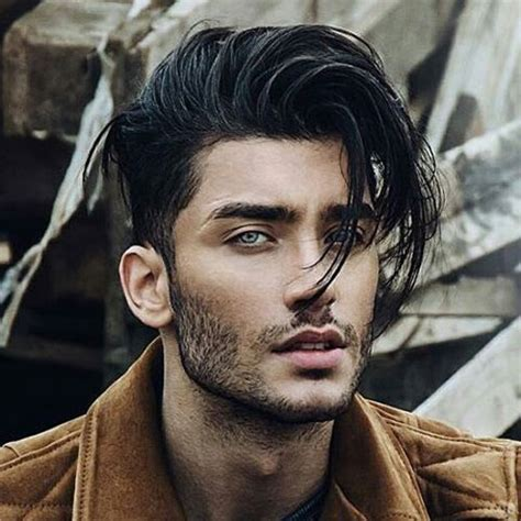 black hairstyles men long front short sides back 25 european men s hairstyles