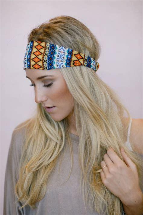 aztec hair style aztec headband tribal turban fashion boho by threebirdnest