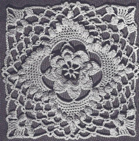 motif to pattern vintage crochet pattern to make irish rose bedspread motif