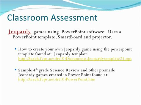 Using Technology In The Classroom Create Your Own Jeopardy Powerpoint