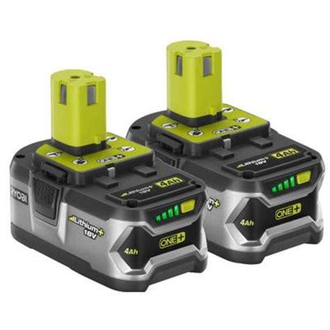 Home Depot Batteries Ryobi 18 Volt One High Capacity Lithium Battery 2 Pack
