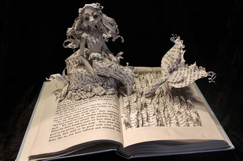 Make Paper Sculpture - artist gives books a second by sculptures