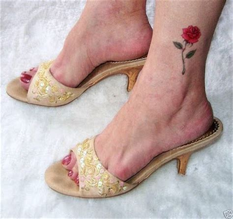 foot rose tattoos ideas designs photos foot and