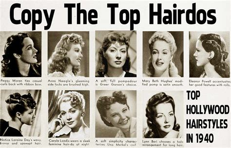 how to create 1940s hairstyles 1940s hairstyle copy the top hairdos of 1941 glamourdaze
