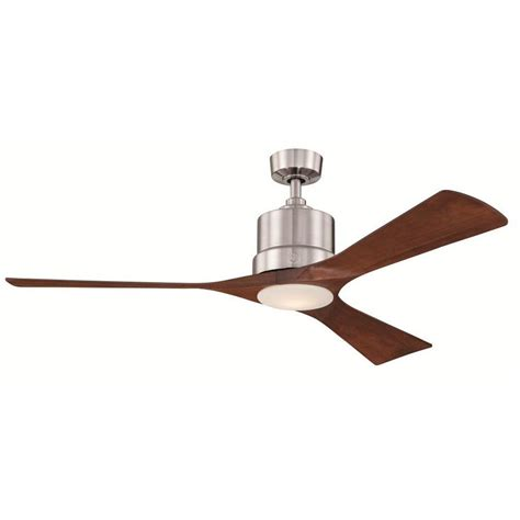 home depot ceiling fan blades ge phantom 54 in brushed nickel indoor led ceiling fan